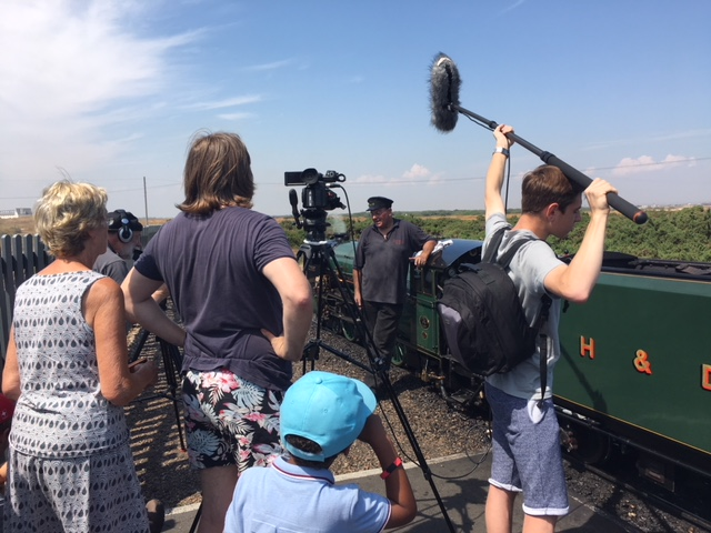Filming at the RHD Railway