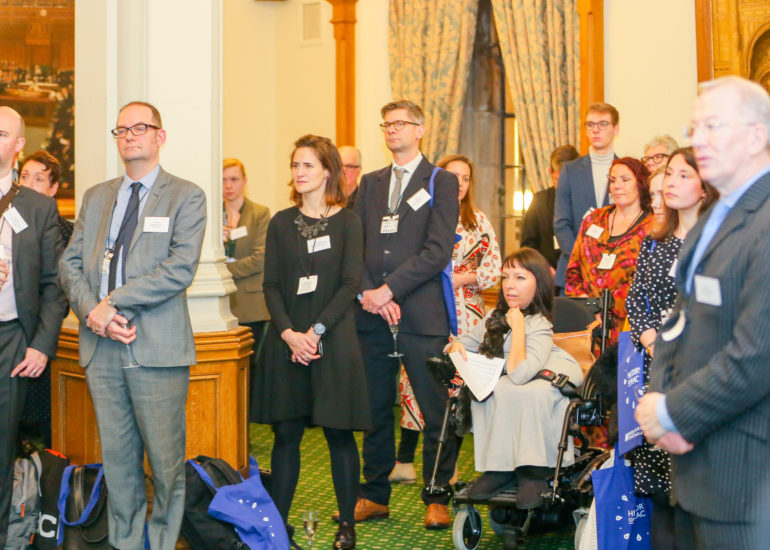Accentuate History of Place Celebration hosted at the Houses of Parliment, London. January 10th 2018History of Place ended their successful three-year Heritage Lottery Funded project today with a celebration event at the Houses of Parliament to mark their success in bringing 800 years in the lives of deaf and disabled people to a wider public.  But project leads gave a clear call to the sector that more must be done to include disabled people in museums and archives.
